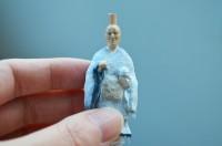 「托鉢」の僧侶の深編笠は着脱可能。(C)Panda's ana/発売元:タカラトミーアーツ