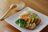 サラダコスモのカット野菜を使った温野菜サラダ