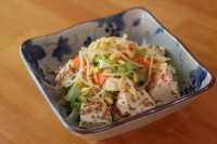 サラダコスモのカット野菜を使った豆腐ナムルサラダ