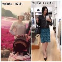 """""""10年前""""と""""今年""""の鷹村アオイさん 比較写真"""