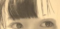 橋本環奈の鉛筆画 製作途中(YouTubeよりキャプチャ)