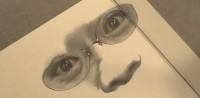 柴田理恵の鉛筆画 製作途中(YouTubeよりキャプチャ)
