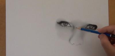 テイラー・スウィフトの鉛筆画 制作過程