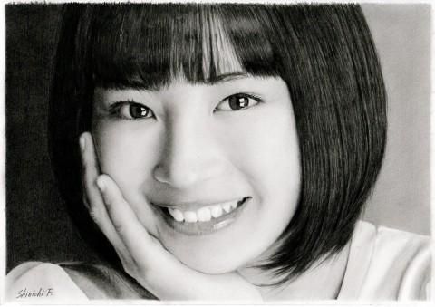 鉛筆のみで描かれた女優・広瀬すず 写真提供:古谷振一さん