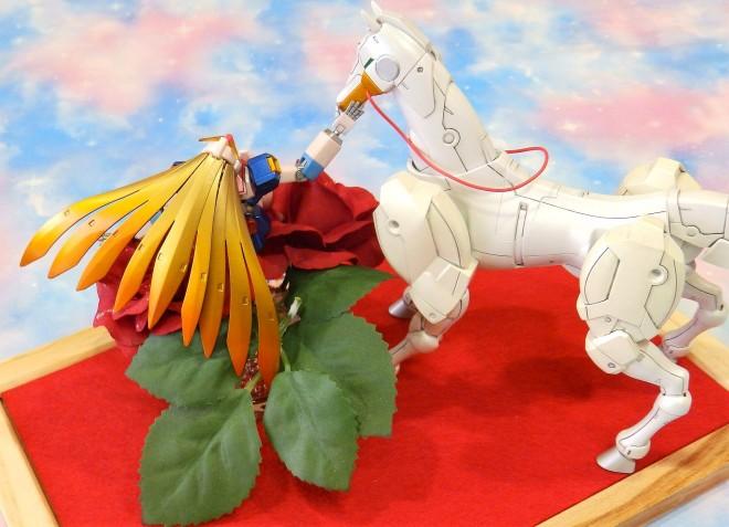 製作:NAO 作品名:『薔薇と白馬、そして私』