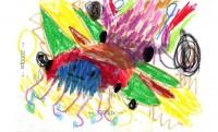 にじいろぱぱさんの長男が描いた「にじいろさいきょうみによんく」の原画イラスト