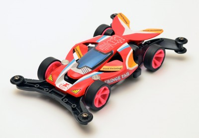 ミニ四駆デザインコンテストで、こしたてつひろ先生からの特別賞を受賞した『フリンジテイル』