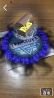 ARアプリ『SPELL MASTER』で召喚した英単語「TREASURE」