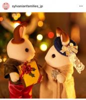 ショコラウサギのお姉さんにちょっぴり早いクリスマスプレゼントを渡した、シナモンウサギのお兄さん