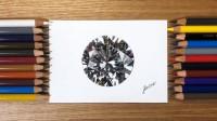 色鉛筆で描いたダイヤモンド