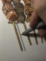 焼き鳥 制作過程