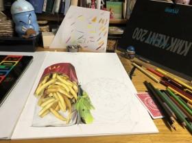 ポテト&バーガー制作過程