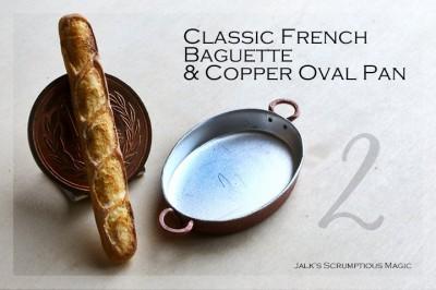 クープ(表面の切れ目)に注目してほしいバゲット。制作・写真/しろくまパン