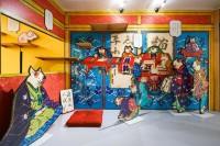 『江戸ねこ茶屋』の会場内部