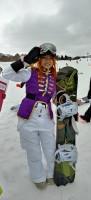 マリーダ・クルスのコスプレで滑る生ガンダムさんの長女