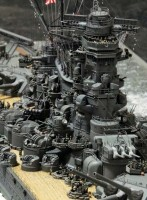 作品:1/350戦艦「大和」の細部/制作:渡辺真郎氏/ブログ(HIGH-GEARedの模型と趣味の日常)