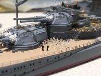 解説:アオシマの1/700戦艦陸奥、甲板に整列する船員たちの息遣いが聞こえてきそうだ/制作:K-5(@battleship_5)