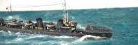 解説:よく見ると甲板を掃除している水兵もいる? 作品:1/700駆逐艦峯風/制作:K-5(@battleship_5)