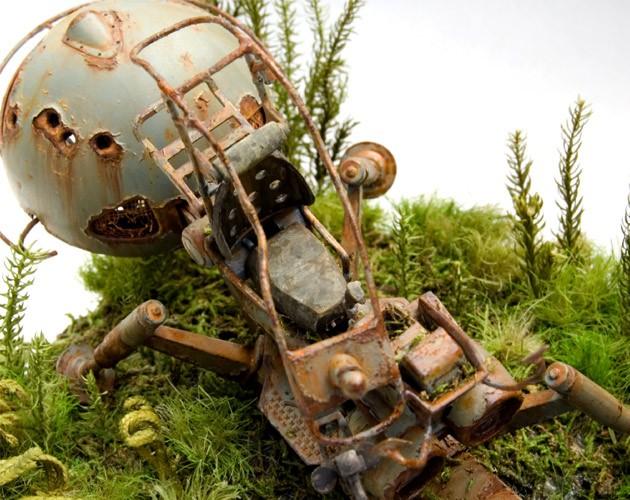 作品名「LOST」 (第11回全国オラザク選手権 ディオラマ部門金賞受賞作品) 解説: 密林で朽ちる、ジオン軍兵器の「ワッパ」 制作:あに