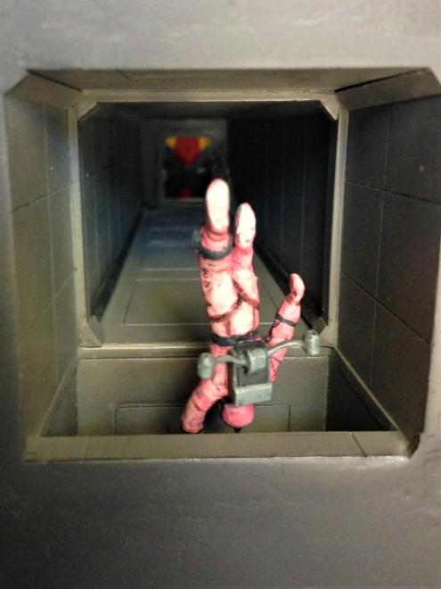 作品名:「黒いガンダム」 解説:機動戦士Zガンダム 第1話を再現。ティターンズのガンダムMk-IIから逃げるクワトロ 製作:まつおーじ