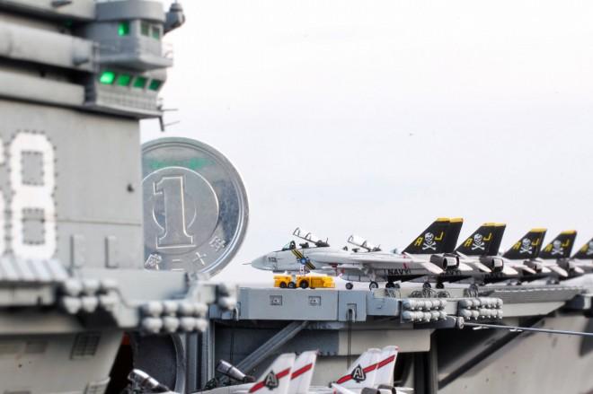 作品名:1/700 米国海軍原子力空母「ニミッツ」 製作:R工廠