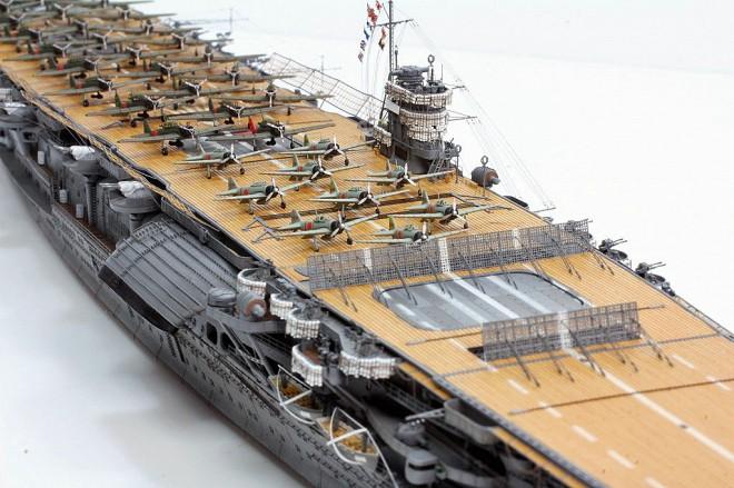 作品名:1/700 旧日本海軍 航空母艦「赤城」 製作:R工廠