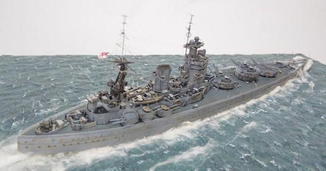 作品:イギリス海軍戦艦ネルソン/制作:宮崎日出雄