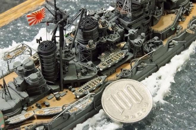 作品:1/700戦艦「金剛」の細部/制作:渡辺真郎氏/ブログ(HIGH-GEARedの模型と趣味の日常)