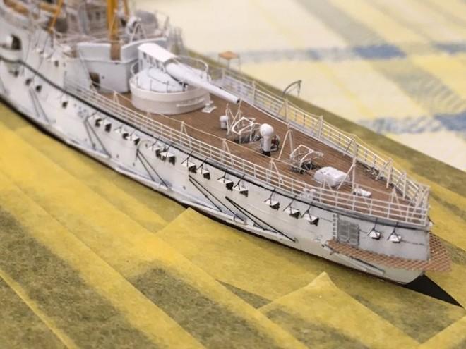解説:K-5氏の代表作 防護巡洋艦 松島(2017年2月完成)/制作:K-5(@battleship_5)