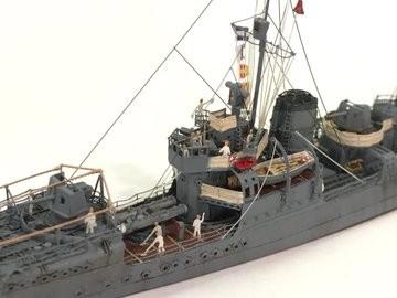作品:1/700駆逐艦峯風/制作:K-5(@battleship_5)