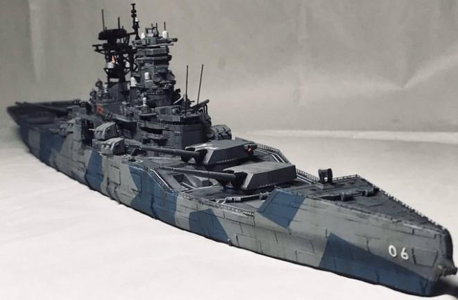 作品:架空艦・重打撃戦闘艦『八島』/制作:虎一(@Toraiti09)