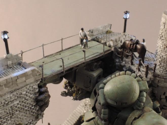 作品名「オリビアの橋」 (第16回全国オラザク選手権 ジオラマ部門銀賞作品) 制作:ピコ(C)創通・サンライズ