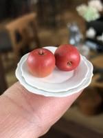 【りんごとお皿】制作&写真/ヒナぞー