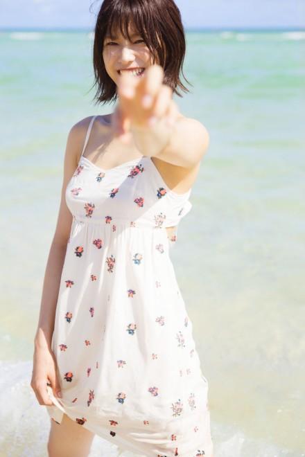 1st写真集を発売する欅坂46・渡邉理佐(撮影/倉本GORI)