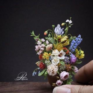 ヤン・フランス・ファン・ダールの絵画を立体模写した作品。これが樹脂粘土だなんて…。まさに超絶技巧!
