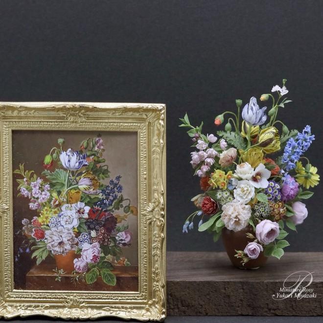 【ヤン・フランス・ファン・ダール絵画の立体模写】制作&写真/ROSY
