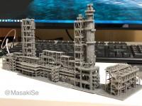 現在制作中の工業地帯のジオラマの一部