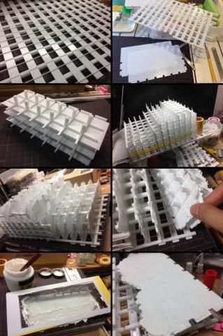 『Nest of Vipers』のビルの部分はプラ版などで一から手作り