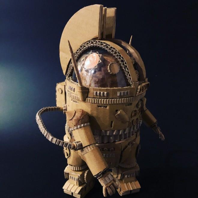 『宇宙戦艦ヤマト』ダンボール AU-09アナライザー(側面)