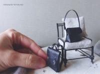 【黒のレザーバッグ】制作&写真/中川さえ