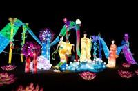 『チャイナランタンフェスティバル』で展示されている「東方の美しい国」
