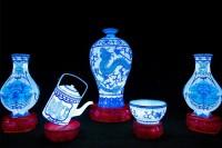『チャイナランタンフェスティバル』で展示されている「青花磁器」