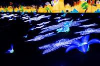 『チャイナランタンフェスティバル』で展示されている「藍色仙女」