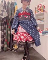 ロリータ×着物の斬新なファッション。本人インスタグラムより(@misakoaoki)