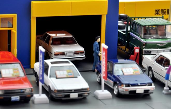 キャリアカーや積載車も大活躍、トミカラマ ヴィンテージ04c アクセル426(2018年9月/税抜8800円)