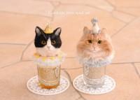 羊毛フェルト 猫inカップ