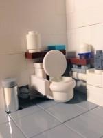 スターウォーズのヘルメットを利用したトイレ