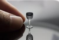 【ミニチュア切子ワイングラス】制作&写真/八戸めぐみ