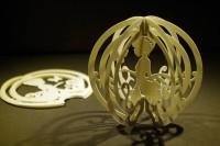 「ミニスフィア『シンデレラ』型紙も無料公開します。簡単に組み立てられるように設計しました。気軽に作ってみてくださいね。」(2/3)