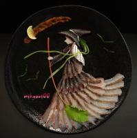 炙ったトビウオで表現した【魔女】。制作&写真/mikyou
